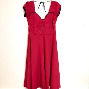 Lindy bop red retro swing dress size Large